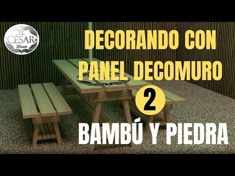 FACHALETA  IMITACION DE PIEDRA Y BAMBU CON LOS PANELES DECORATIVOS