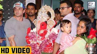 Salman's Sister Arpita Khan's Ganpati Visarjan 2017 FULL VIDEO| LehrenTV