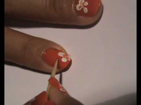 Simple Flower Nail Art for Beginners