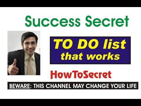 How to Make To Do list that works - Great Success Secrets