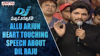Allu Arjun Heart Touching Speech About Dil Raju @ DJ Audio Launch - ADITYAMUSIC