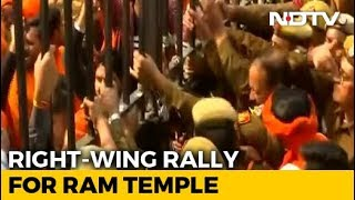 """At Mega Delhi Rally For Ram Temple, RSS Man Targets """"Those In Power"""" - NDTV"""