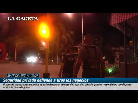 Seguridad privada defiende a tiros los negocios