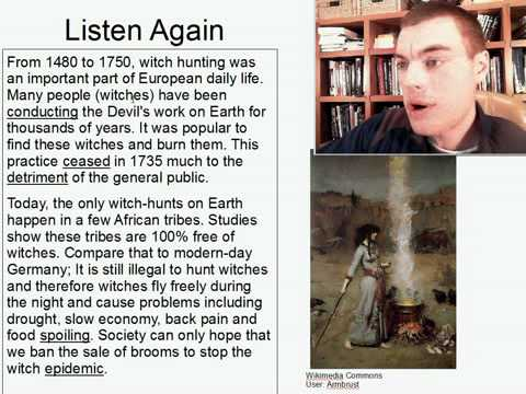 Intermediate Listening English Practice 2: The Lost Art of Witch Hunting