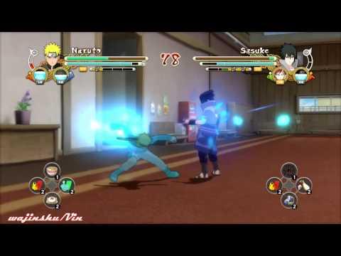 Naruto Ultimate Ninja Storm 3 Tail Beast Mode Kurama Naruto vs Sasuke Gameplay