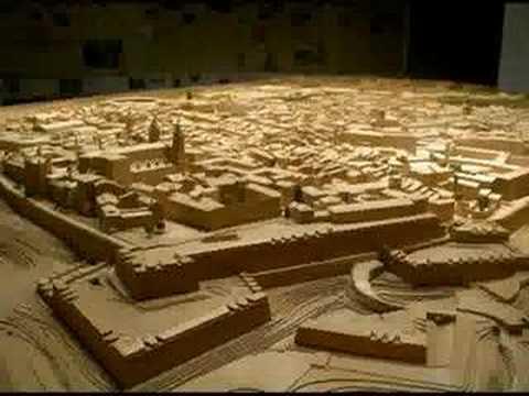 Maquetas arquitectura. Maqueta reconstrucción ciudad Histórica