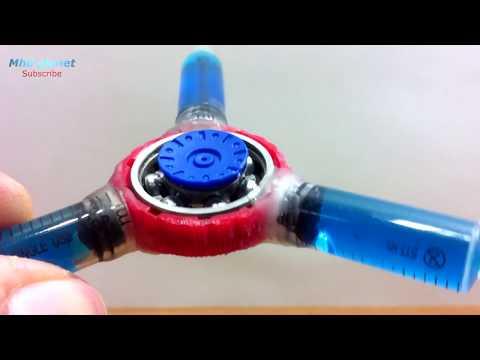 طريقة جديدة ومميزة لصنع السبنر...HOW TO MAKE A FIDGET SYRINGE SPINNER