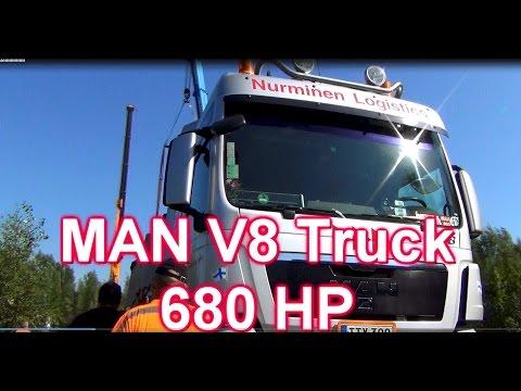 MAN V8 TGX Truck 680 HP! Listen to the engine sound!