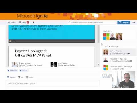 Office 365 MVP Panel - Ask your questions early (BRK2131)