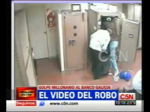 El video del robo al Banco Galicia, en Capital Federal