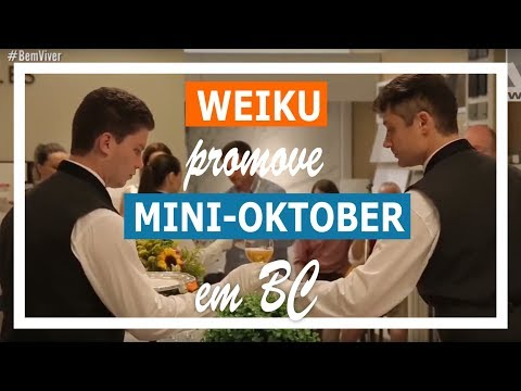 Weiku promove mini Oktoberfest na Loja Combinare em Bal. Camboriú