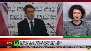'Russia should go away & shut up' – UK Defence Secretary amid diplomatic row - RUSSIATODAY