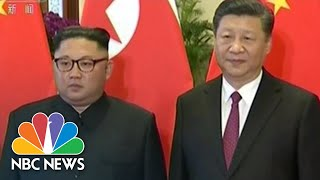 North Korea's Kim Jong Un Makes His Third Visit To China This Year | NBC News - NBCNEWS