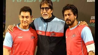 Shah Rukh, Aamir at Pro Kabaddi League match - IANSINDIA