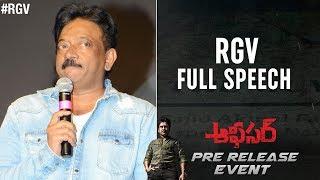 RGV Emotional Speech | Officer Pre Release Event | Nagarjuna | Myra Sareen | Ram Gopal Varma - RGV