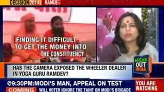 Speak out India: Ramdev caught on camera wheeling and dealing - Is he a guru or political middleman? - NEWSXLIVE