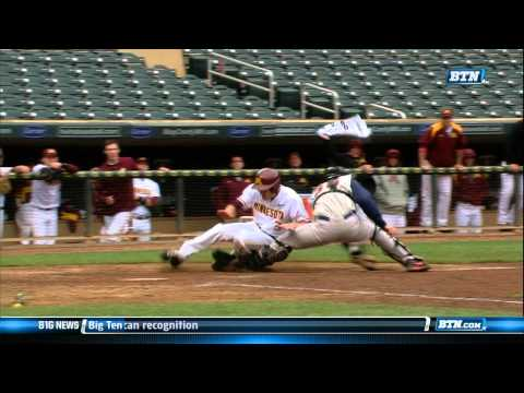 Illinois vs. Minnesota - Big Ten Baseball Tournament Highlights