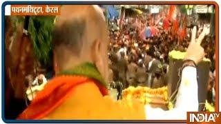 LS polls 2019:  Amit Shah Holds A Mega Roadshow In Pathanamthitta, Kerala - INDIATV