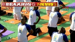 PM Narendra Modi Performs Yoga Asanas On International #YogaDay 2018 | CVR News - CVRNEWSOFFICIAL