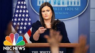 Watch Live: White House Press Briefing - NBCNEWS
