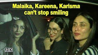 Malaika, Kareena, Karisma can't stop smiling after Karan's Party - IANSLIVE