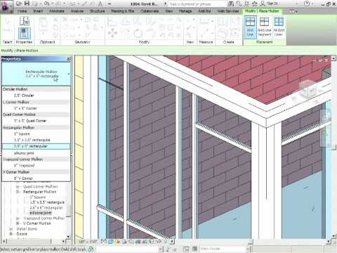 Advanced Revit Architecture 2012 Tutorial - Mullions