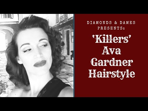 Diamonds and Dames Does: Kitty Collins-1946 Ava Gardner Hairstyle