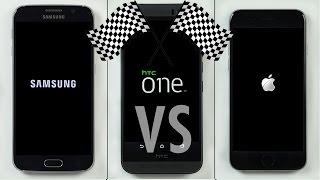 شاهد إختبار السرعة بين Galaxy S6 و iPhone 6 و HTC One M9