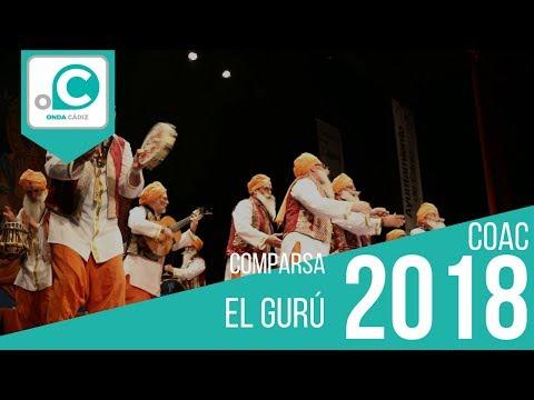 La agrupación El gurú llega al COAC 2018 en la modalidad de Comparsas. Primera actuación de la agrupación para esta modalidad.
