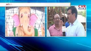 58 Feet Tallest Ganesh Idol At Adilabad Dist | CVR News - CVRNEWSOFFICIAL