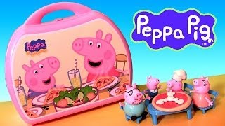 Peppa Pig Pizzeria Playset Pizza Shop Carry Case PlayDoh Chef Peppa Nickelodeon Disneycollector