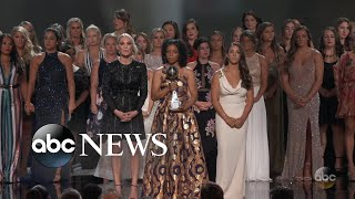 Gymnast abuse survivors stand in solidarity at the 2018 ESPYs - ABCNEWS