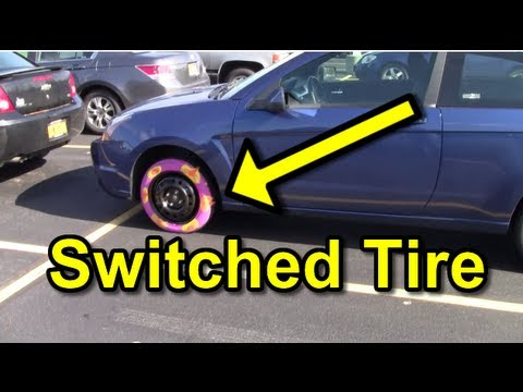 Funny Pranks : Tire Switcheroo Prank
