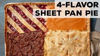 4-Flavor Sheet Pan Pie | Food Network - FOODNETWORKTV
