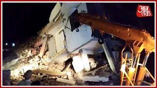 Greater Noida Building हादसे में बिल्डर समेत 3 गिरफ्तार; हादसे में अब तक 3 लोगों की मौत - AAJTAKTV