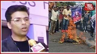 Karan Johar Reacts To Karni Sena's Protest Against Release of Padmavat - AAJTAKTV