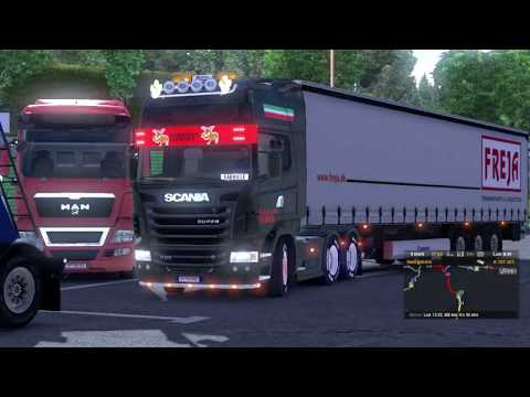 ets2 road to rostock scania vabis E.R map HD