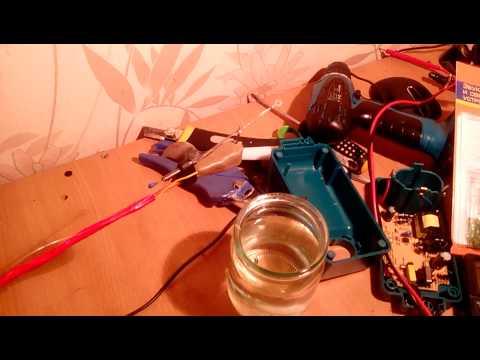 удочка с электрокивком на батарейках