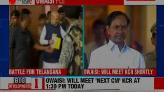 AIMIM chief Asaduddin Owaisi calls on KCR, Hyderabad - NEWSXLIVE