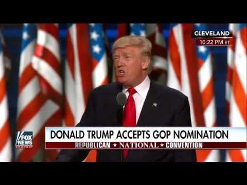 Full speech: Donald Trump accepts GOP nomination, Part 1