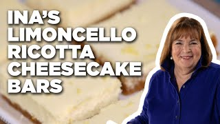 Ina's Limoncello Ricotta Cheesecake Bars | Food Network - FOODNETWORKTV