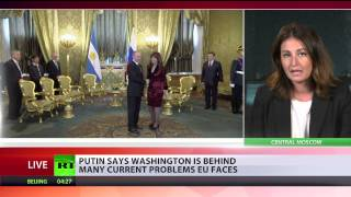 Putin: It's strange when we have to deal with the US in order to discuss issues with Europe - RUSSIATODAY