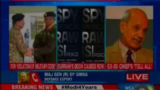 Ex-ISI cheif  Durrani summoned by Pakistan Military Over Book Co-Authored With Ex-RAW Chief - NEWSXLIVE