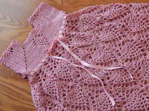 Vestido de Piñas Crochet parte 1 de 3