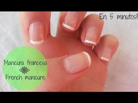 Manicura francesa rápida y fácil - French manicure in 5 minutes