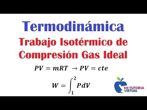 Trabajo Isotermico de Compresion para un Gas Ideal - Termodinamica - Video 155