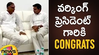Harish Rao Best Wishes to KTR | KTR Appointed As TRS Working President | #KTR | #HarishRao - MANGONEWS