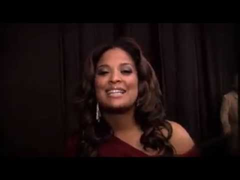 Laila Ali Backstage at the Red Dress Fashion