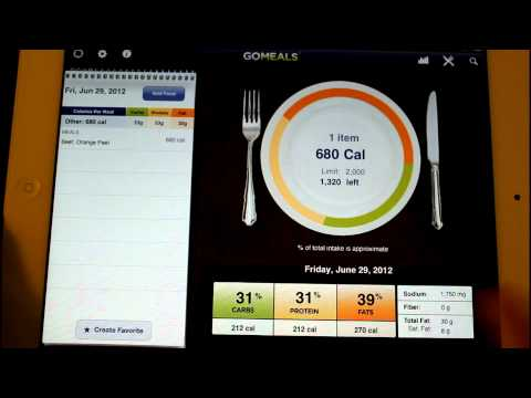 GoMeals App HD Health fitness Review Overview ipad ipad