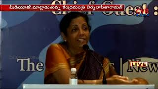 Defence Minister Nirmala Sitharaman press meet | CVR News - CVRNEWSOFFICIAL